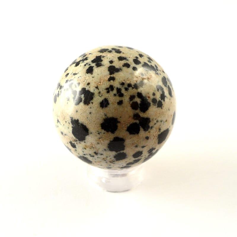 Jasper, Dalmatian, Sphere, 30mm