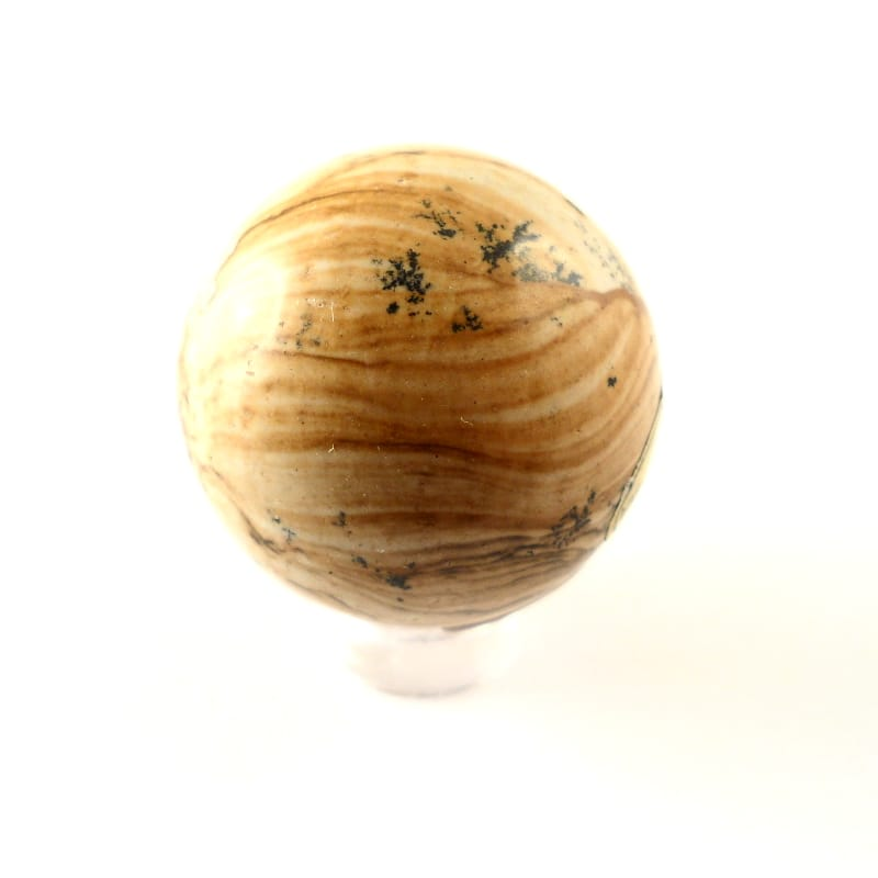 Jasper, Picture, Sphere, 30mm All Polished Crystals jasper