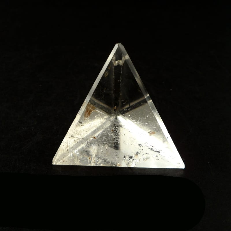 Quartz Sacred Geometry Tetrahedron (pyramid) All Polished Crystals