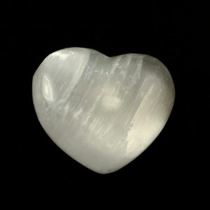 Selenite Puffy Heart All Polished Crystals cleansing heart