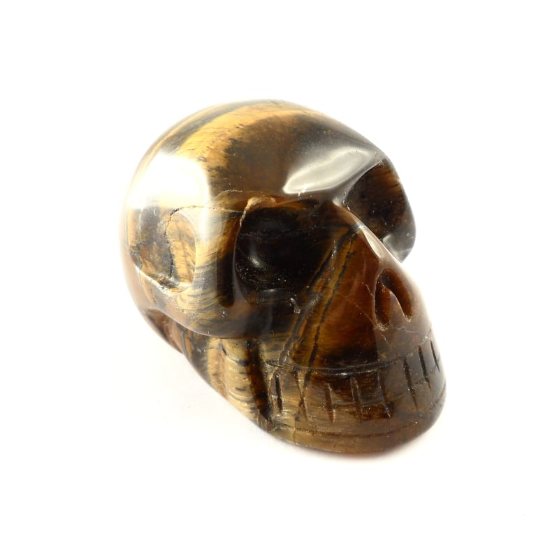 Tiger Iron Skull All Polished Crystals skull
