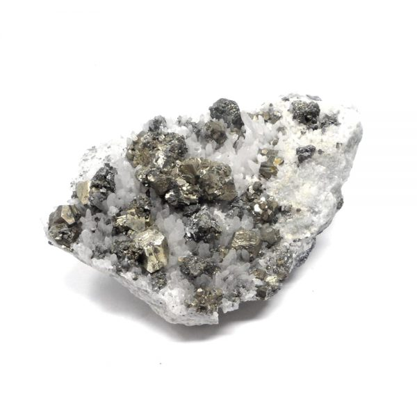 Quartz Cluster with Pyrite and Galena All Raw Crystals galena