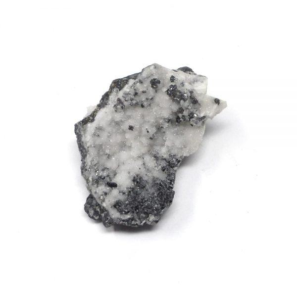 Galena, Pyrite, & Quartz Cluster All Raw Crystals galena