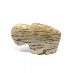 Graphic Feldspar Bison Carved Animals and Statues bison