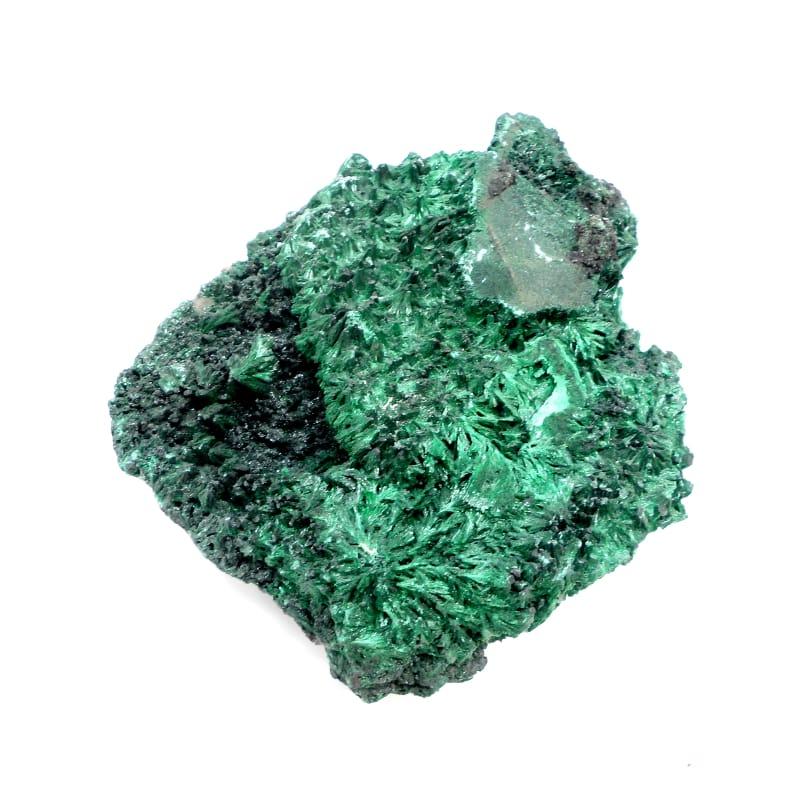 Fibrous Malachite Mineral Specimen Raw Crystals fibrous