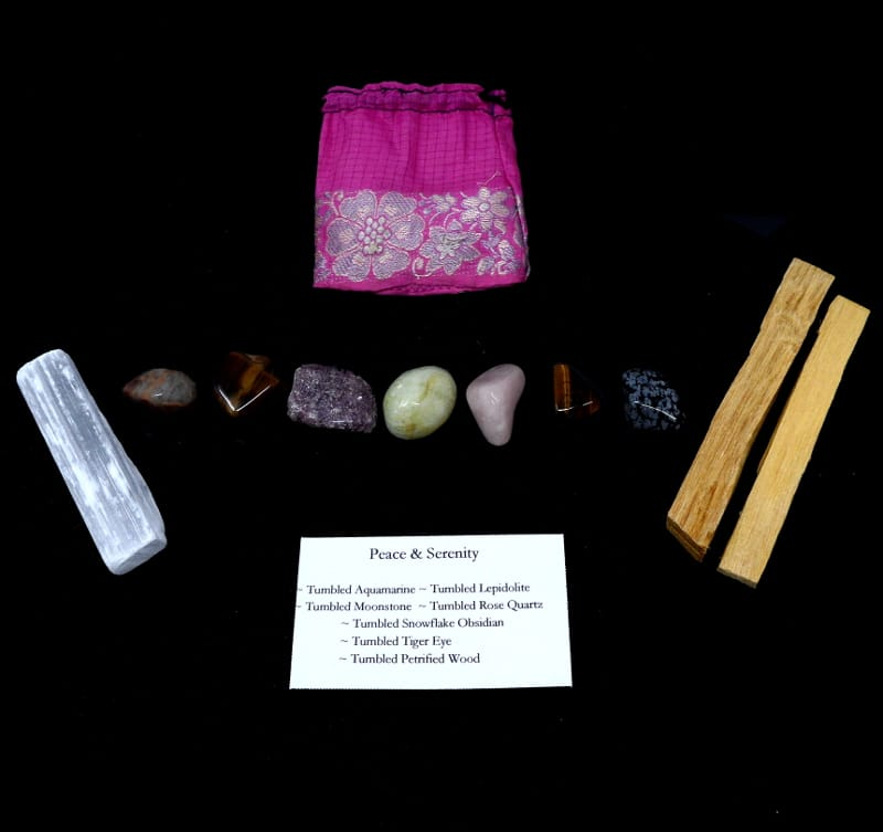Crystal Kit ~ Peace & Serenity All Specialty Items aquamarine