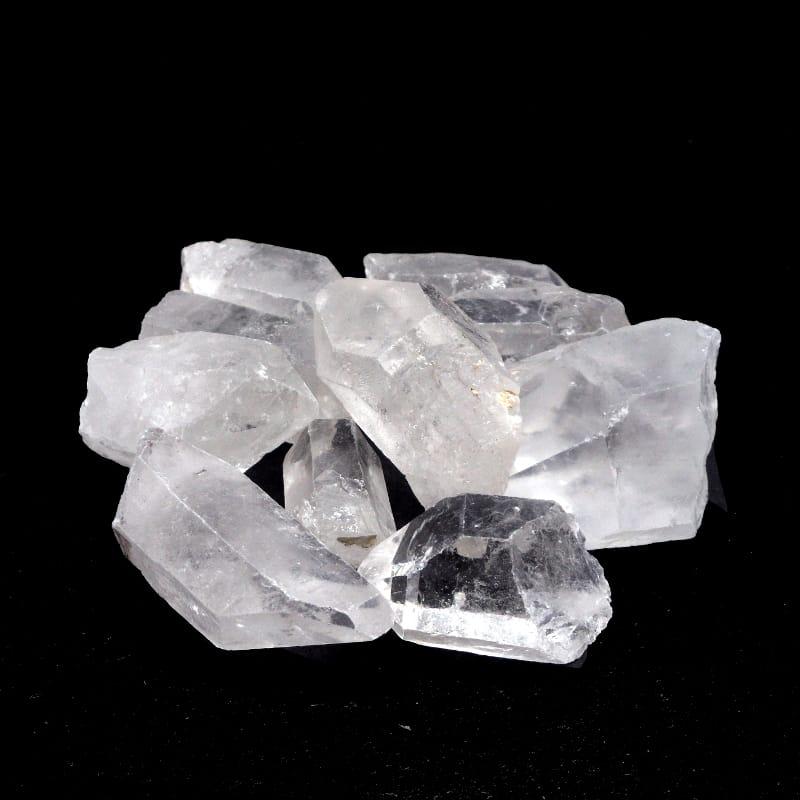 Quartz Points, XQ, 8oz All Raw Crystals clear quartz