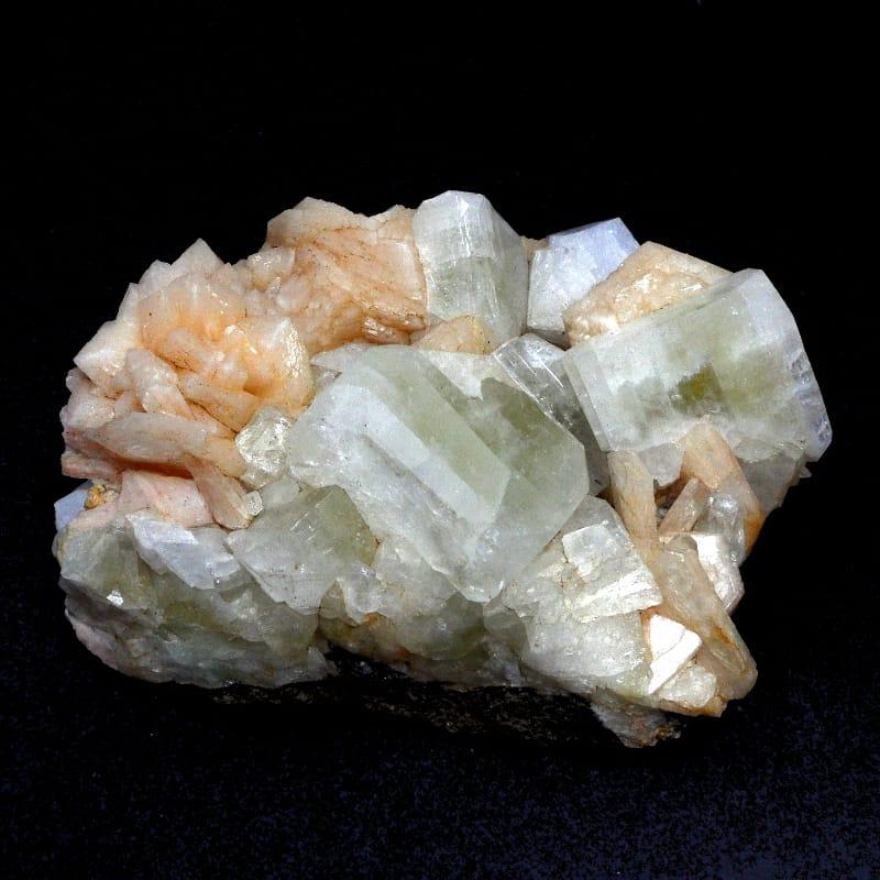 Green Apophyllite & Stilbite Cluster All Raw Crystals