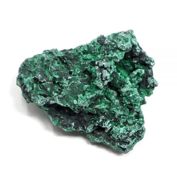 Fibrous Malachite Mineral Specimen All Raw Crystals fibrous