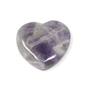 Amethyst Flat Heart 45mm All Polished Crystals amethyst