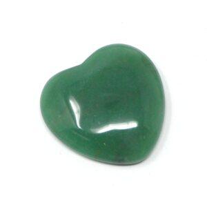 Green Aventurine Flat Heart 45mm All Polished Crystals aventurine