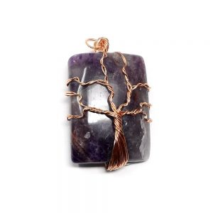 Amethyst & Copper Pendant All Crystal Jewelry amethyst