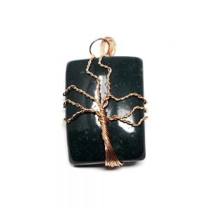 Bloodstone & Copper Pendant Crystal Jewelry bloodstone