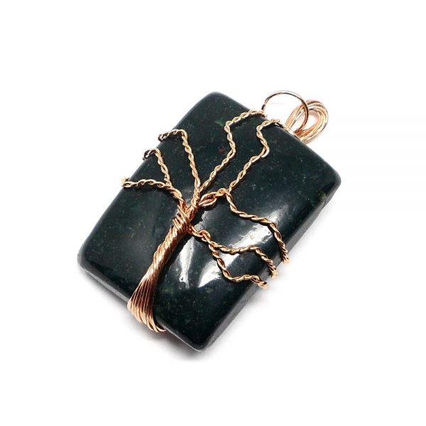 Bloodstone & Copper Pendant All Crystal Jewelry bloodstone