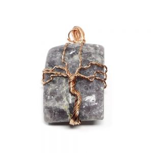 Lepidolite & Copper Pendant Crystal Jewelry copper