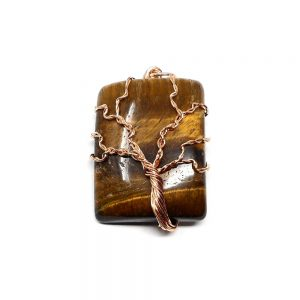 Tiger Eye & Copper Pendant Crystal Jewelry copper