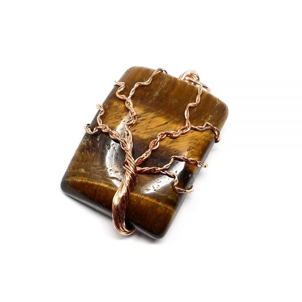 Tiger Eye & Copper Pendant All Crystal Jewelry copper