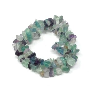 Fluorite Three Strand Chip Bracelet All Crystal Jewelry bracelet