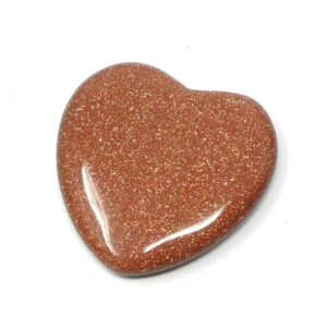 Goldstone Flat Heart 45mm All Polished Crystals crystal heart