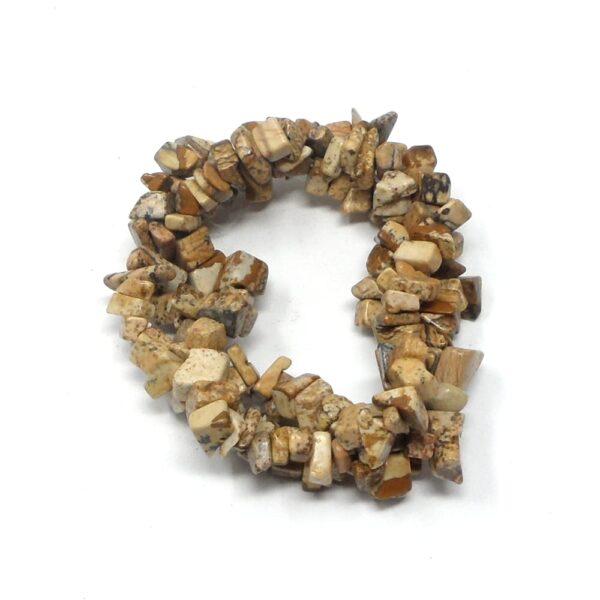 Picture Jasper 3 Strand Bracelet All Crystal Jewelry crystal chip bracelet