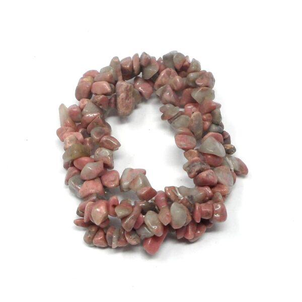Rhodonite 3 Strand Bracelet All Crystal Jewelry crystal bracelet