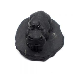 Shungite Hippopotamus Unique Gift Ideas carving