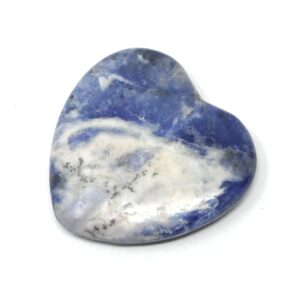 Sodalite Flat Heart 45mm All Polished Crystals crystal heart