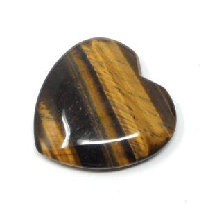 Tiger Eye Flat Heart 45mm All Polished Crystals crystal heart