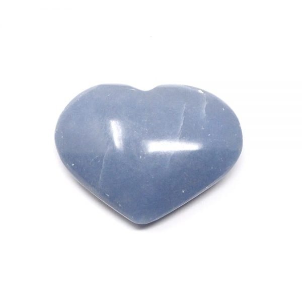 Angelite Crystal Heart All Polished Crystals angelite