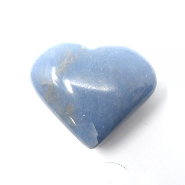 Angelite Heart All Polished Crystals angelite