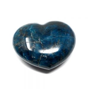Blue Apatite Heart All Polished Crystals apatite