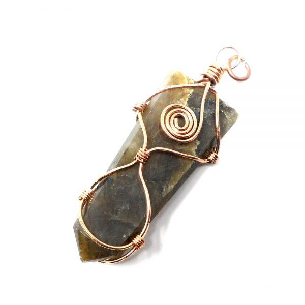 Labradorite & Copper Pendant All Crystal Jewelry copper