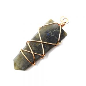 Labradorite & Copper Pendant Crystal Jewelry copper
