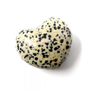 Jasper, Dalmatian Puffy Heart All Polished Crystals crystal heart