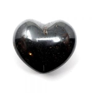 Hematite Puffy Heart All Polished Crystals crystal heart