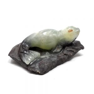 Prehnite Seal All Specialty Items carved crystal animal