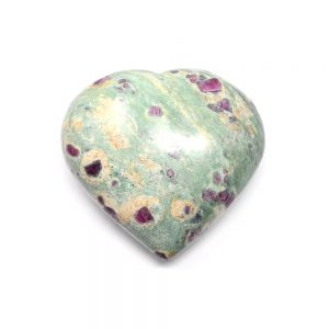 Ruby Zoisite Heart Polished Crystals crystal heart