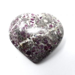 Ruby in Matrix Heart All Polished Crystals crystal heart