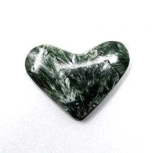 Seraphinite Heart All Polished Crystals crystal heart