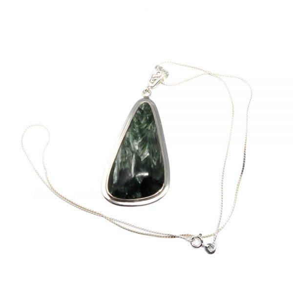 Seraphinite Pendant All Crystal Jewelry angel wing seraphinite