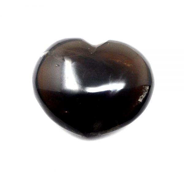 Smoky Quartz Heart All Polished Crystals crystal heart