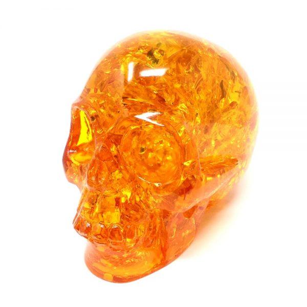 Amber Skull All Polished Crystals amber