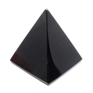Black Obsidian Pyramid All Polished Crystals black obsidian