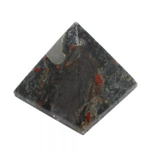 Chinese Bloodstone Pyramid All Polished Crystals bloodstone