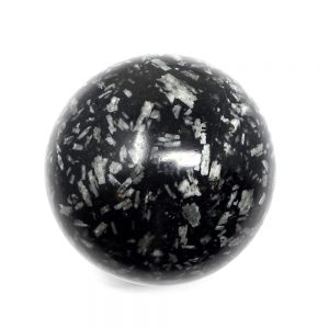 Chinese Writing Stone Sphere 60mm All Polished Crystals andalusite