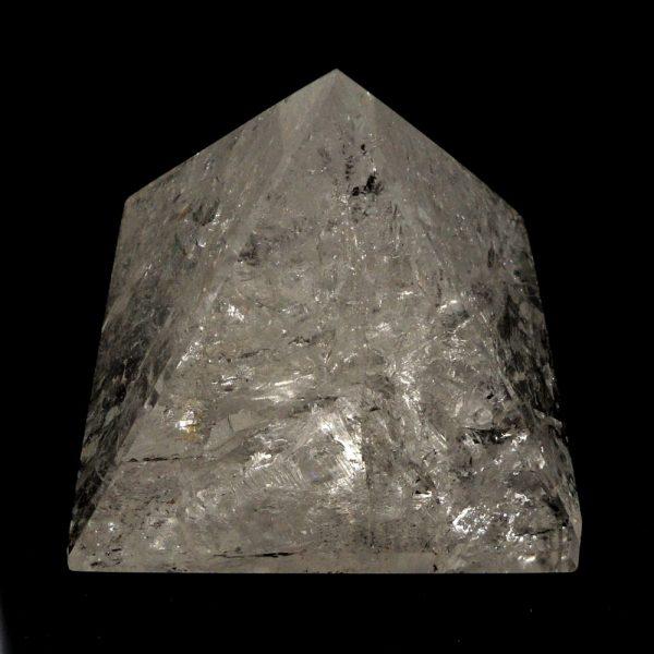 Crackle Quartz Pyramid All Polished Crystals crackle pyramid