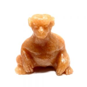 Golden Azeztulite Monkey All Raw Crystals animal