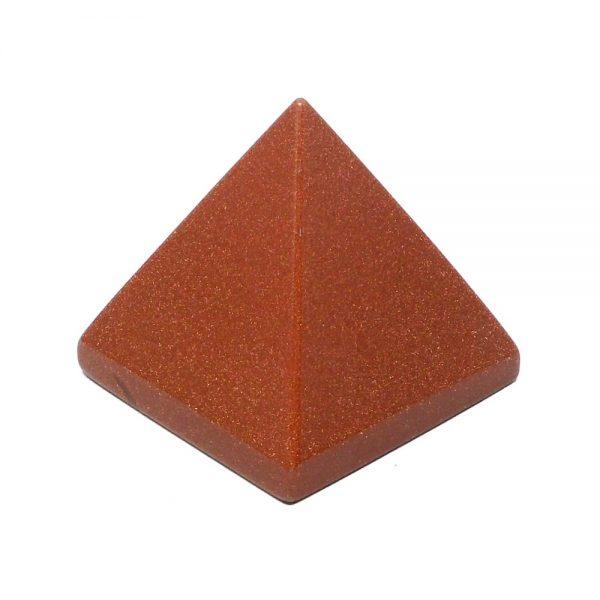Goldstone Pyramid All Polished Crystals crystal pyramid