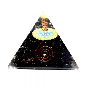Obsidian Orgonite Pyramid Accessories black obsidian