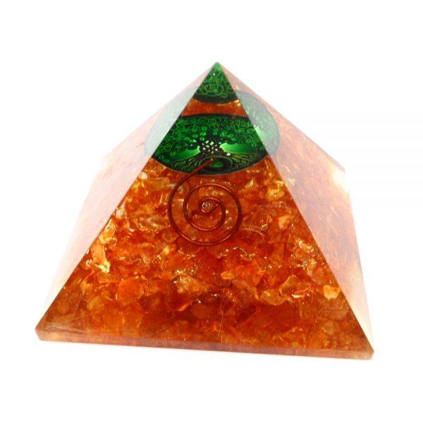 Quartz Orgonite Pyramid Accessories copper